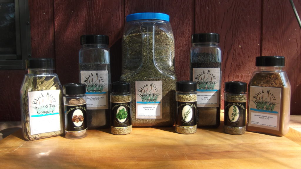 wholesale herbs, spices & teas in various bottles