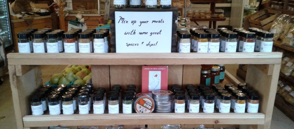 Alstede Farms in Chester, NJ now sells herbs & spices that we supply.